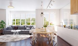 Modern kitchen interior. Stock Photo