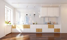 Modern kitchen interior. royalty free stock photography