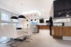 Modern kitchen interior design Royalty Free Stock Image