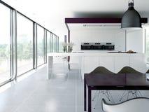 Modern kitchen interior. design concept. 3d Royalty Free Stock Photos