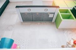 Modern kitchen. Interior design decor showing royalty free stock photography