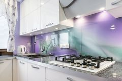 Modern kitchen interior design royalty free stock image