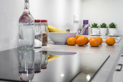 Modern kitchen interior design Royalty Free Stock Photos