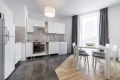Modern kitchen interior design Stock Photos