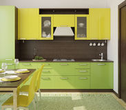 Modern kitchen interior. Stock Photography
