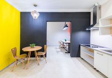 The modern kitchen interior at home Royalty Free Stock Photo