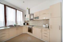 Modern kitchen interior. Interior photography. Stock Photo