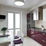 Modern kitchen interior Royalty Free Stock Photography