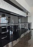 Modern kitchen interior Royalty Free Stock Photos