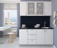 Modern kitchen interior. Stock Photos