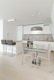 Modern Kitchen. Interior of stylish modern house, kitchen Stock Images