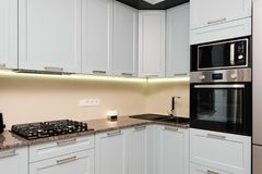 Modern kitchen interior Stock Photo