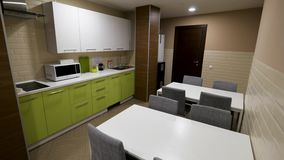 Modern Kitchen Interior With Electric Clip Futuristic Kitchen Set
