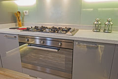 Modern kitchen in a luxury apartment Royalty Free Stock Photography