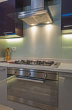 Modern kitchen in a luxury apartment Royalty Free Stock Image
