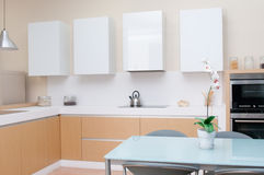Modern kitchen in a modern house Stock Image