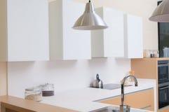 Modern kitchen in a modern house Stock Photos