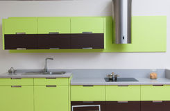 Modern kitchen in a modern house Stock Photography