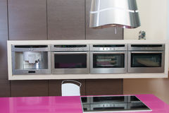 Modern kitchen in modern house Stock Images