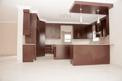 Modern Kitchen in Newly Build House Royalty Free Stock Photos