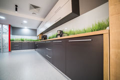 Modern kitchen. A modern kitchen in an office building Royalty Free Stock Images