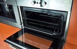 Modern kitchen owen stock photos