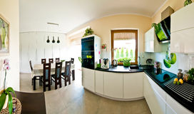 Modern kitchen panorama Stock Image