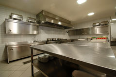 Modern kitchen in restaurant` Royalty Free Stock Photo