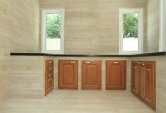 Modern kitchen room Royalty Free Stock Image