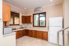 Modern kitchen set room Royalty Free Stock Image