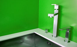 Modern kitchen sink Stock Photography