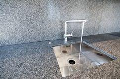Modern kitchen sink Royalty Free Stock Image