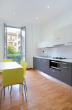 Modern kitchen in new apartment Royalty Free Stock Photos