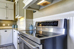 Modern kitchen stove with flat top Stock Image