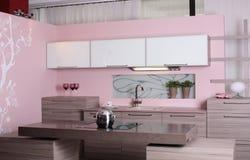 Modern kitchen with stylish furniture Royalty Free Stock Image