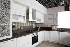 Modern kitchen with stylish furniture Royalty Free Stock Photos