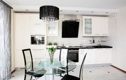 Modern kitchen with stylish furniture Royalty Free Stock Photography