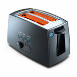 Modern kitchen toaster Royalty Free Stock Images