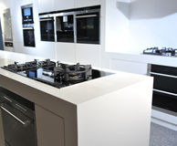 Modern kitchen in white Royalty Free Stock Photo