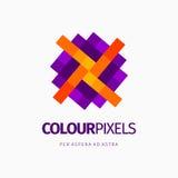 Modern kleurrijk abstract embleem of elementenontwerp Beste voor identiteit en logotypes Stock Foto