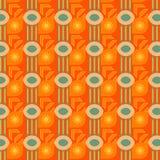 Modern kleurrijk geometrisch patroon in sinaasappel, beige en groen met decoratieve elementen royalty-vrije illustratie