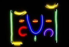 Modern kleurrijk licht art. Stock Foto