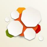 Modern kleurrijk ontwerp stock illustratie