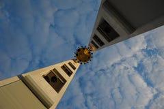 Modern klockstapel Royaltyfri Fotografi