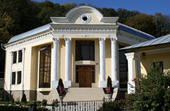 Modern klooster in Moldova stock afbeeldingen