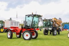 Modern knight crop sprayers at show Stock Photography
