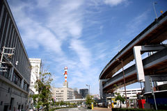Modern kobe. A view from kobe city, Japan Royalty Free Stock Image