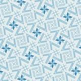 Modern koel blauw monochromic geometrisch het herhalen patroon stock illustratie