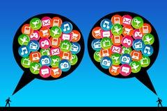 Modern kommunikation Arkivbilder