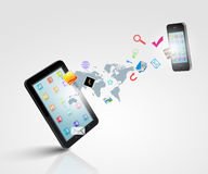 Modern kommunikationsteknologi royaltyfri illustrationer